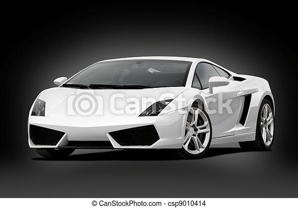 supercar, weißes, 3/4, ansicht - csp9010414