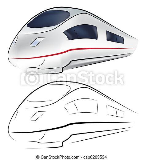 Superfast train - csp6203534