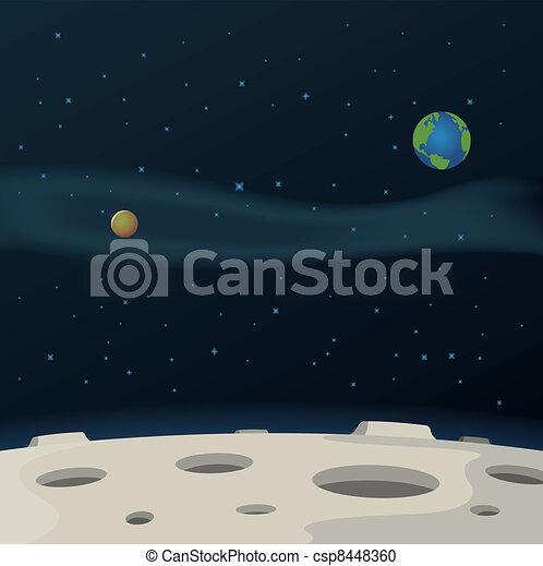 La superficie lunar - csp8448360