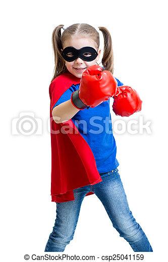 superhero, boks rękawiczki, dziecko - csp25041159