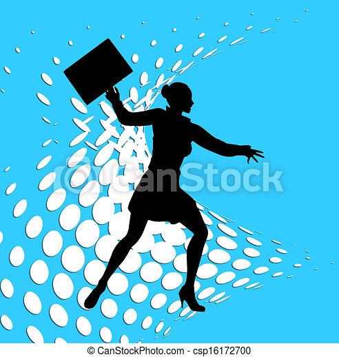 Superhero Business Woman Pop Art - csp16172700