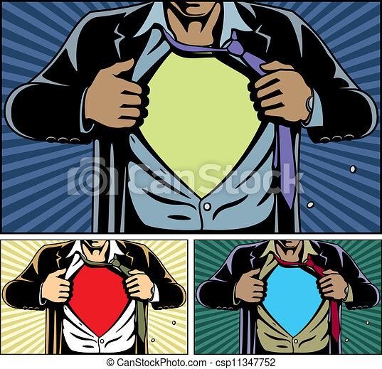 superhero, coperchio, sotto - csp11347752