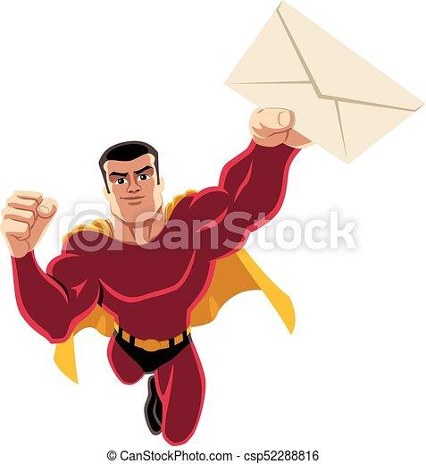 Superhero Flying Envelope - csp52288816
