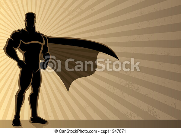 superhero, fondo - csp11347871