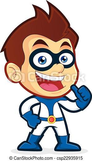 Superhero giving thumbs up - csp22935915
