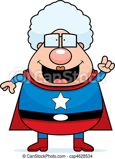 superhero grandma idea a happy cartoon superhero grandma eps rh canstockphoto com grandma clipart images grandma clip art free