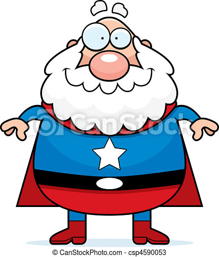 superhero grandpa a happy cartoon superhero grandpa standing and rh canstockphoto com grandpa clipart gif grandpa clipart gif