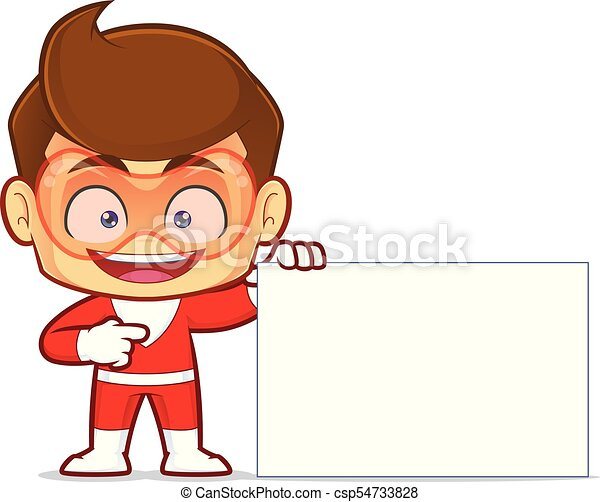 superhero holding a blank sign clipart picture of a superhero rh canstockphoto com blank interstate sign clipart blank road sign clipart