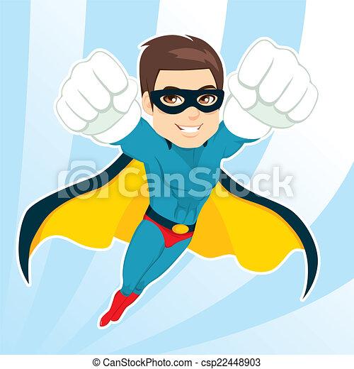 Superhero Man Flying - csp22448903