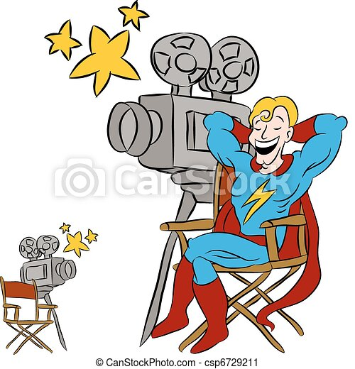 superhero movie star an image of a superhero star sitting vector rh canstockphoto com