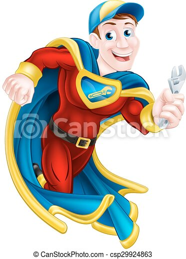 Superhero Plumber or Mechanic - csp29924863