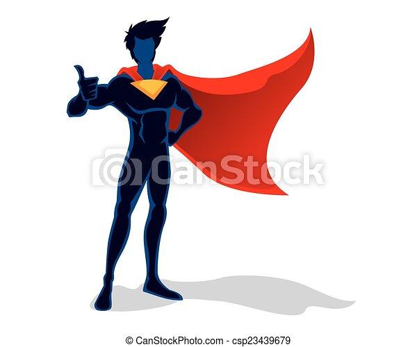 Superhero thumbs up - csp23439679