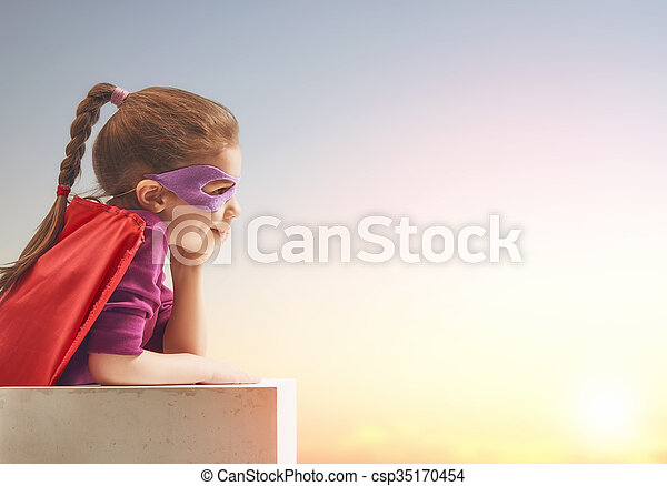 superhero's, girl, déguisement - csp35170454