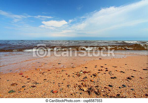 Lago playa superior en Michigan - csp6587553