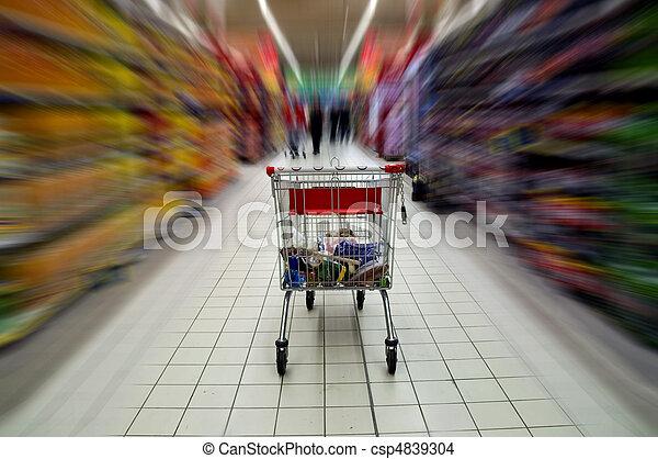 Supermarket cart - csp4839304