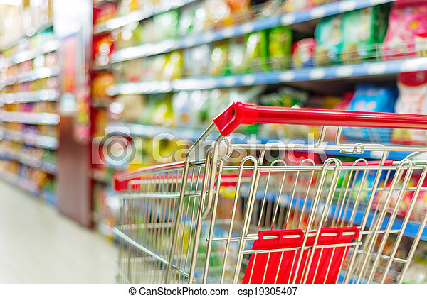supermarket cart - csp19305407