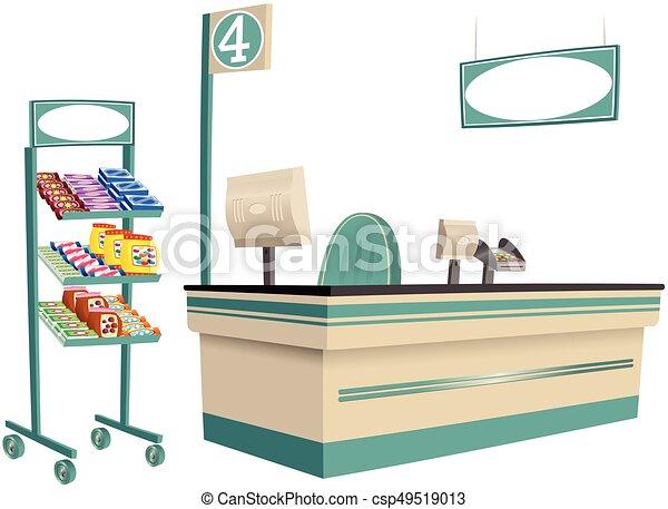 Supermarket checkout - csp49519013