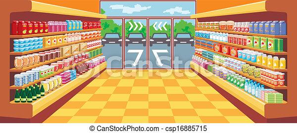 supermarket. - csp16885715