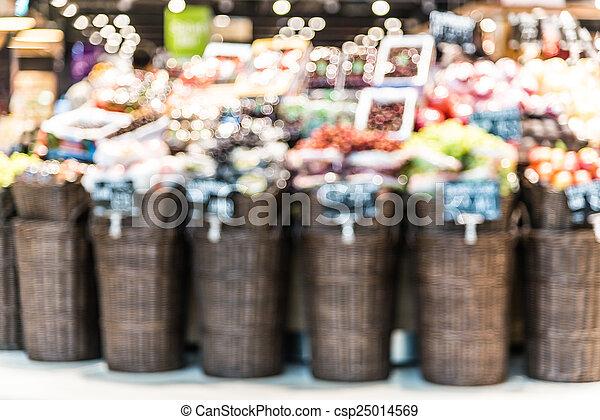 supermarkt, verdoezelen - csp25014569