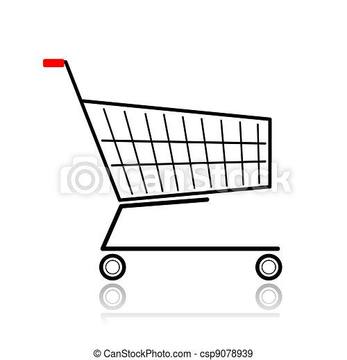 Grficos vectoriales EPS de supermercado diseo su carrito