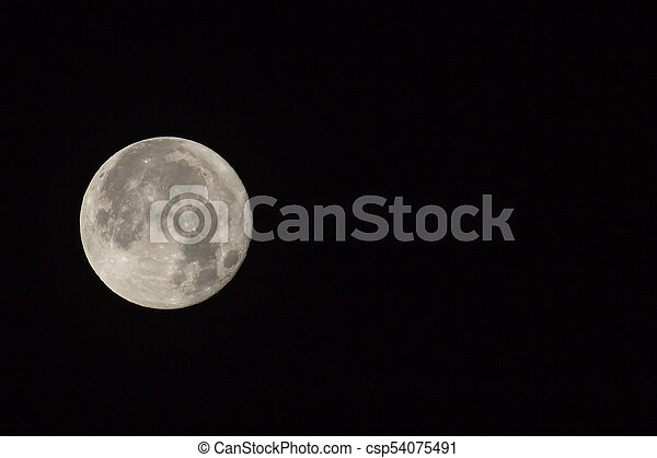Supermoon with Text Space on Right - csp54075491