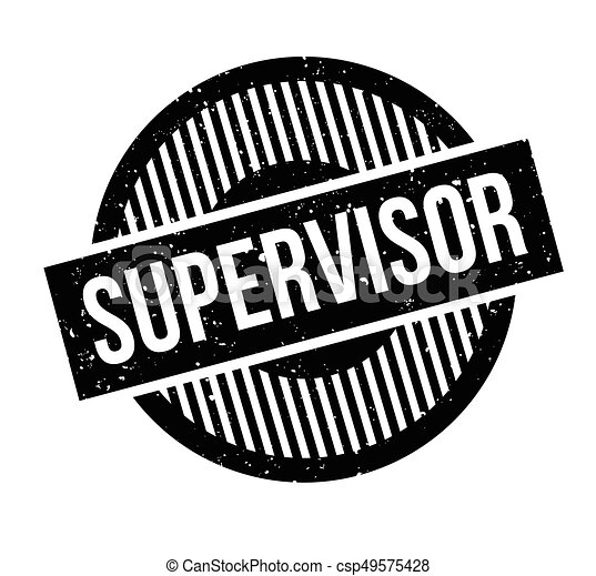 supervisor rubber stamp grunge design with dust scratches effects