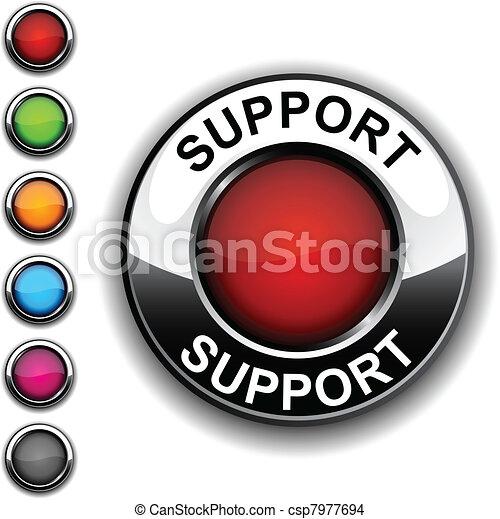 Support button. - csp7977694