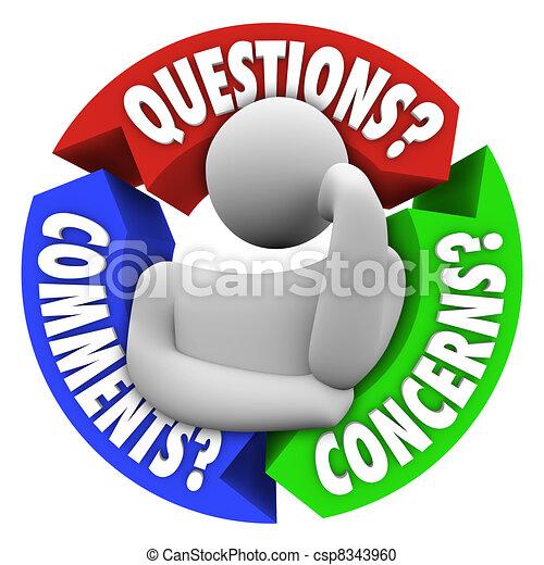 support client, comments, diagramme, inquiétudes, questions - csp8343960