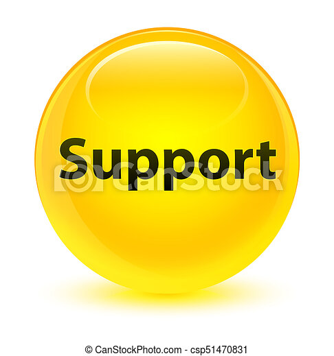 Support glassy yellow round button - csp51470831