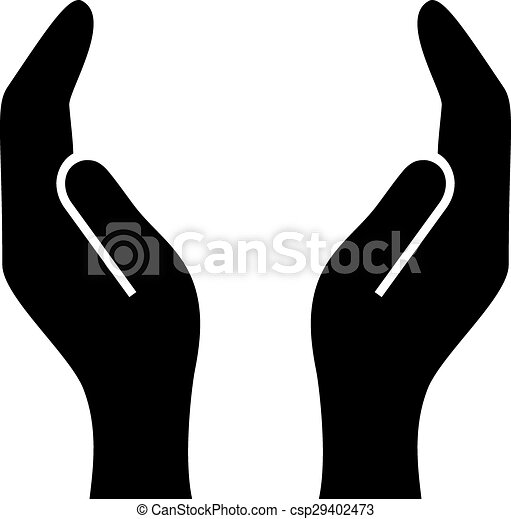 supporting hands illustration