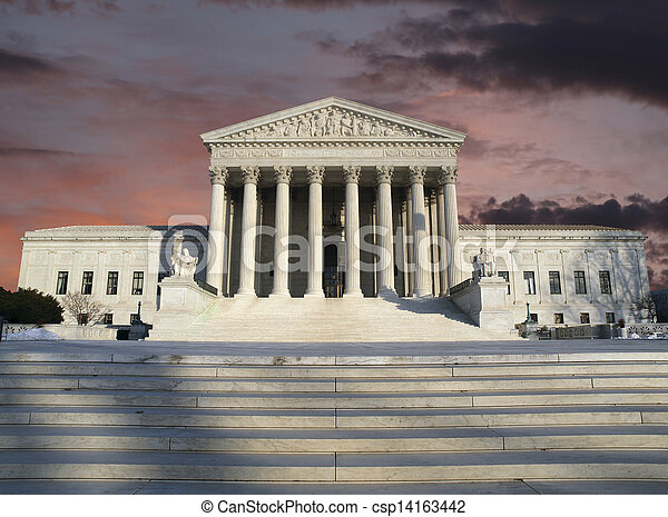 Supreme Court Clearing Storm Sky - csp14163442