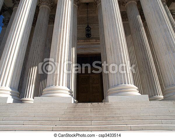 Supreme Court Door - csp3433514