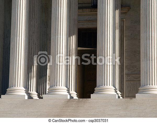 Supreme Court Pillars - csp3037031