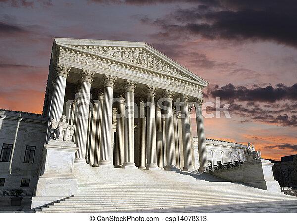 Supreme Court Washington DC Dawn Sky - csp14078313