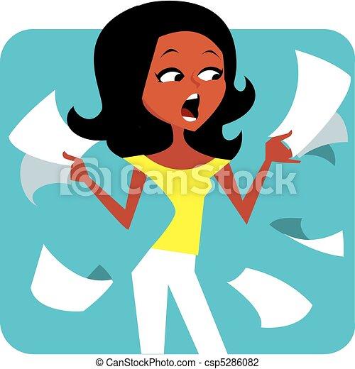 Las mujeres sufrieron ilustraciones - csp5286082