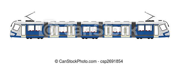 Sur blanc tramway tramway blanc long isol fond - Dessin tramway ...