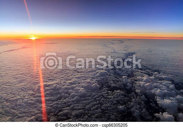 sur, pays-bas, aérien, levers de soleil - csp66305205
