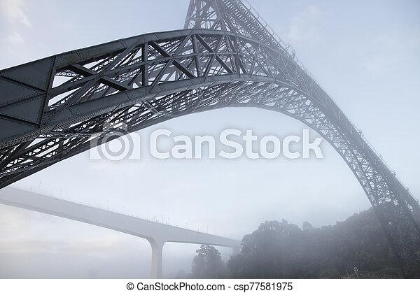 sur, rivière, ponts, douro - csp77581975