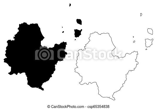 Surat Thani Province Map Vector