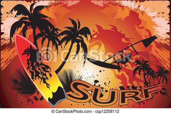 surf background - csp12258112