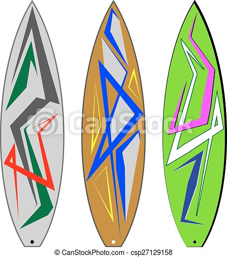 Surf Board Graphics, Stripe : Vinyl Ready - csp27129158