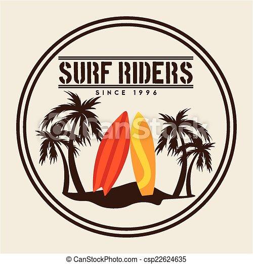 Surf Design Surf Graphic Design Vector Illustration
