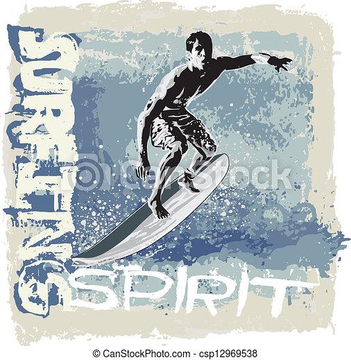 Espíritu de surf - csp12969538