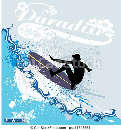 Ondas de surf - csp11808554