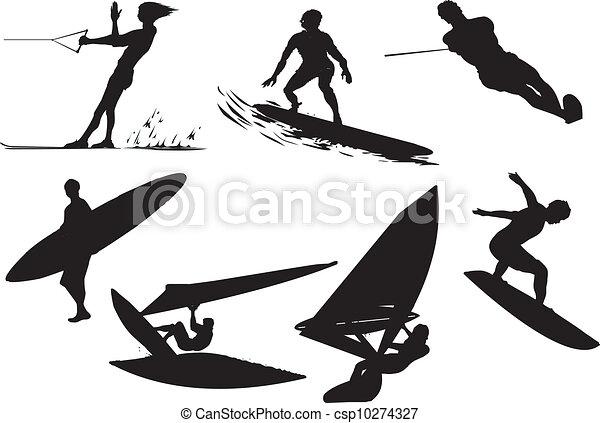 Vector de surf - csp10274327