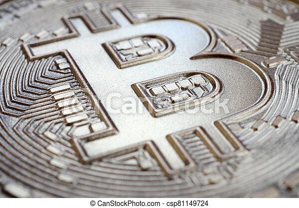 surface, chocolate., comestible, fin, monnaie, crypto, soulagement, résumé, haut, formulaire, bitcoin, brillant, physique, coup, fait, image - csp81149724