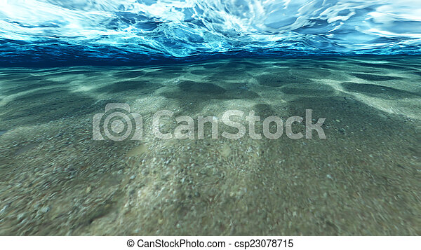 Surface of sand under water - csp23078715