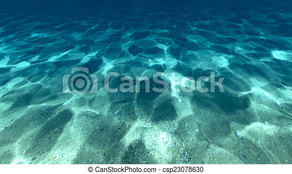 Surface of sand under water - csp23078630