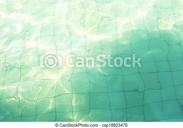 Surface of the pool - csp18823476