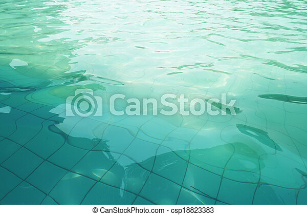 Surface of the pool - csp18823383